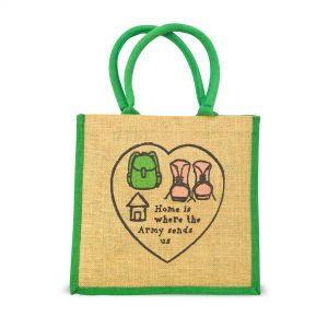 Home Is Where The Army Sends Us – Jute Bag
