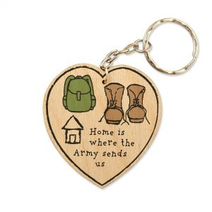 Home Is Where The Army Sends Us – Keyring